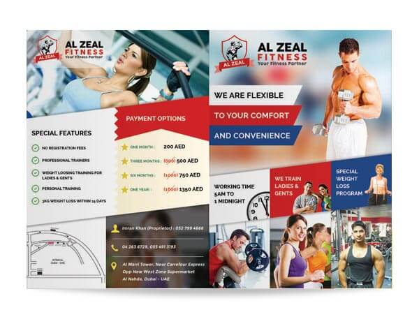 Al Zeal Fitness - Brochure Design