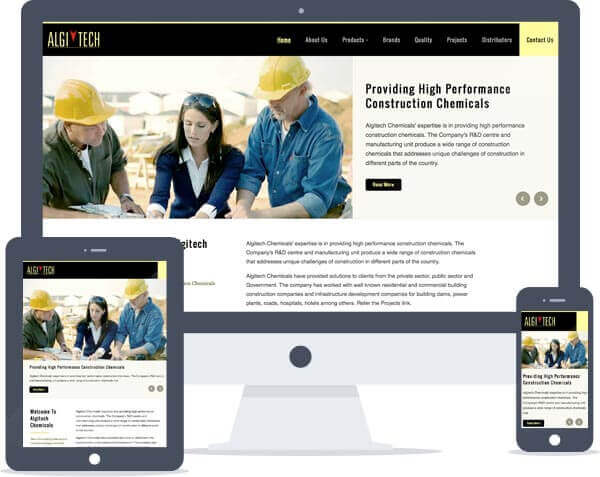 Algitech Chemicals - Responsive Website Design