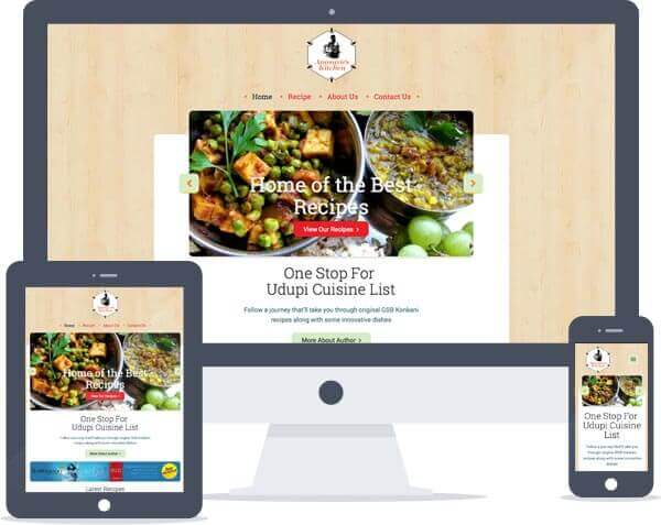 Anasuya's Kitchen - Responsive Website Design, Web Development