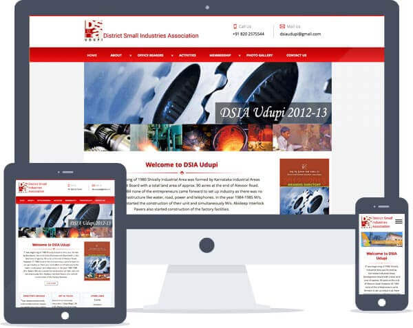 DSIA Udupi - Responsive Website Design
