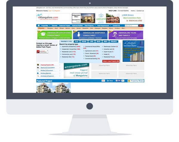 E Mangalore - Website Design, Property Portal Development
