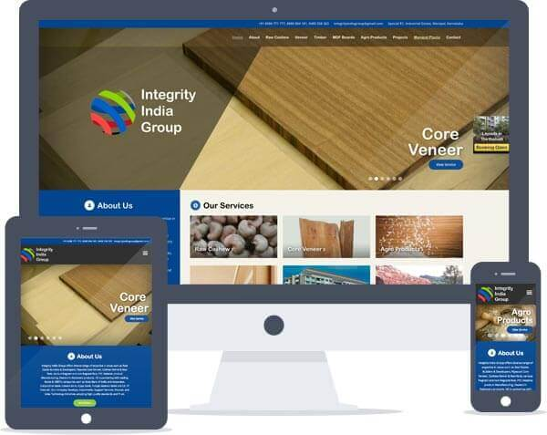 Integrity India Group - Logo Design, Responsive Website Design, Catalogue Design