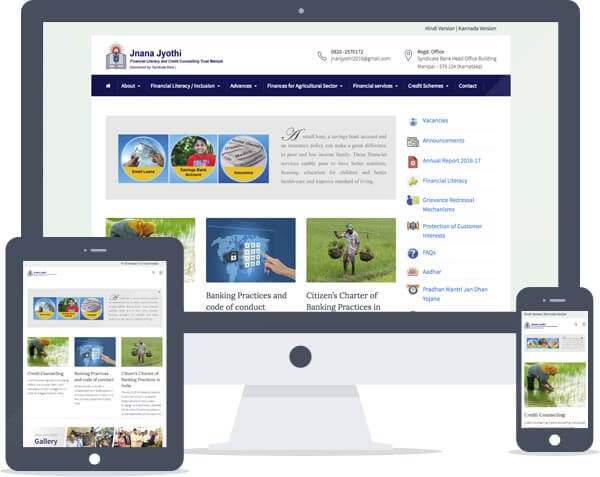 Jnana Jyothi Trust - CMS Website Development