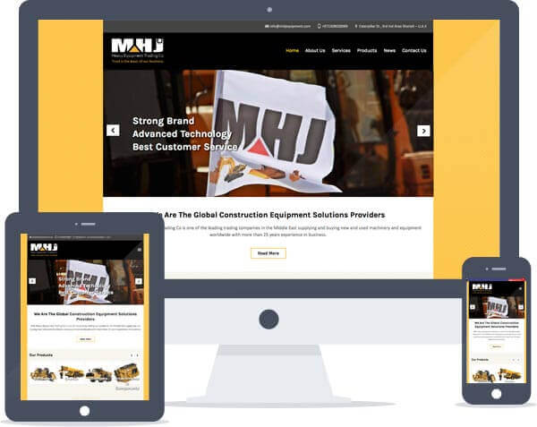 MHJ Equipment - Responsive Website Design, Web Development