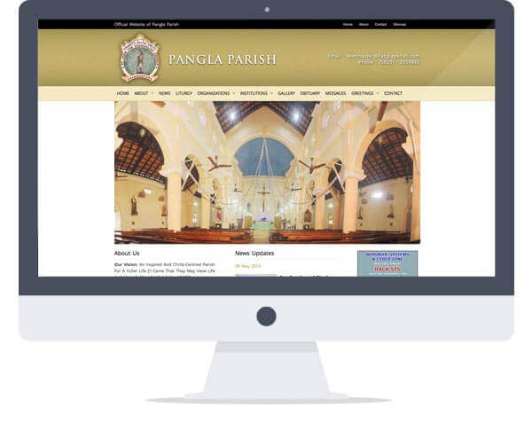 Pangla Parish - Website Design