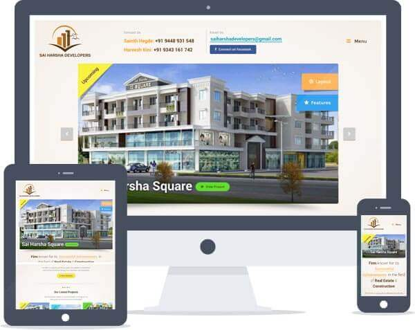 Sai Harsha Developers - Logo Design, Responsive Website Design