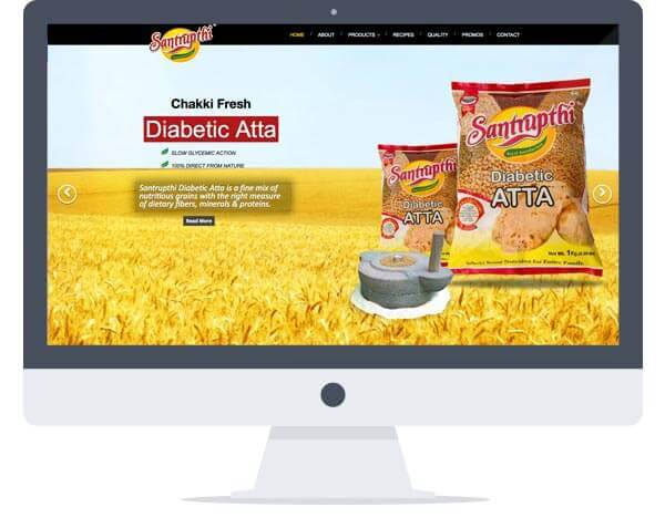Santrupthi -  Website Design