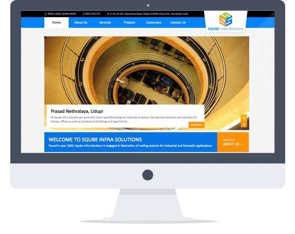 Sqube Infra Solutions - Website Design