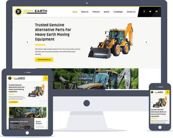 Tech Earth - Logo Design, Responsive Website Design, Brochure Design