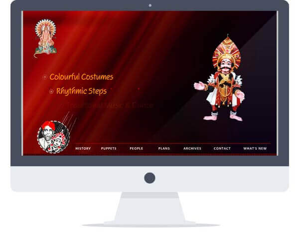 Yakshagana Puppets - Website Design